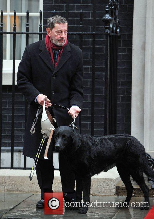 David Blunkett leaving 10 Downing Street London, England