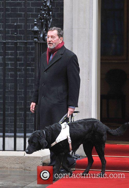 David Blunkett leaving 10 Downing Street