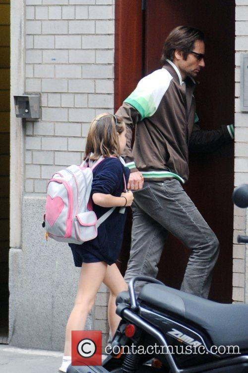 David Duchovny takes his daughter, Madelaine Duchovny, to...