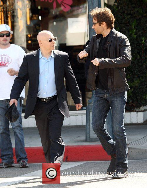 David Duchovny, Evan Handler On The Set Of 'californication' and Filming On Location In Beverly Hills 9