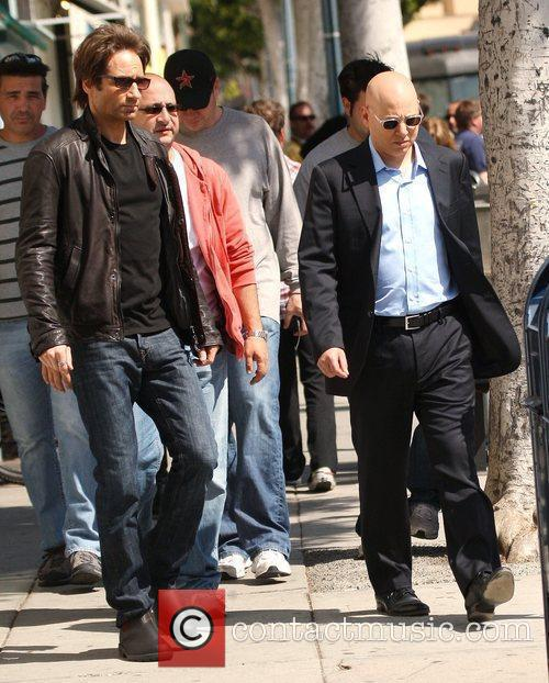 David Duchovny, Evan Handler On The Set Of 'californication' and Filming On Location In Beverly Hills 7