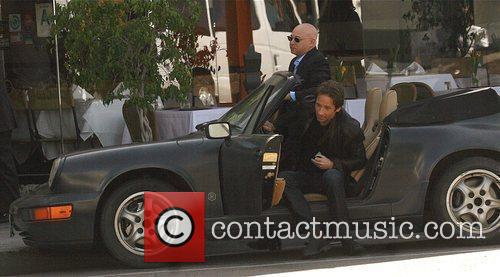 David Duchovny, Evan Handler On The Set Of 'californication' and Filming On Location In Beverly Hills 2