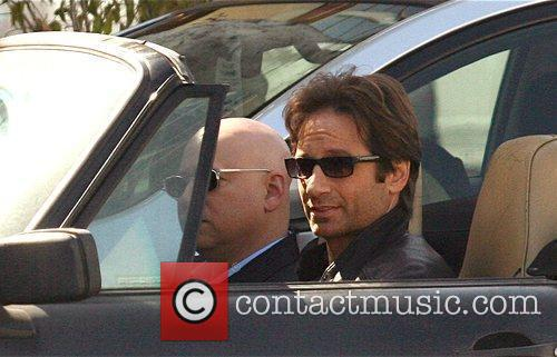 David Duchovny, Evan Handler On The Set Of 'californication' and Filming On Location In Beverly Hills 6