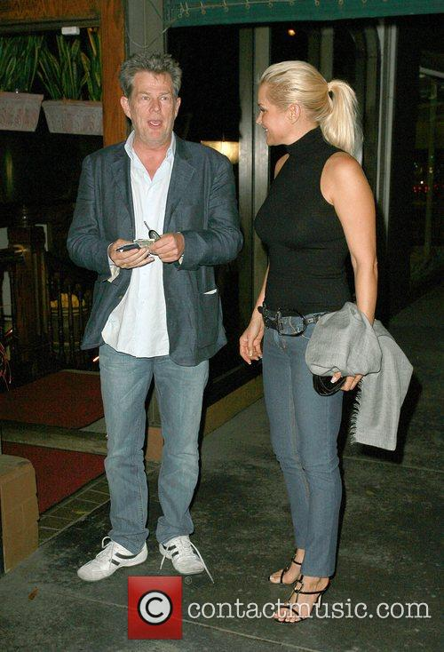 David Foster outside Madeo restaurant Los Angeles, California