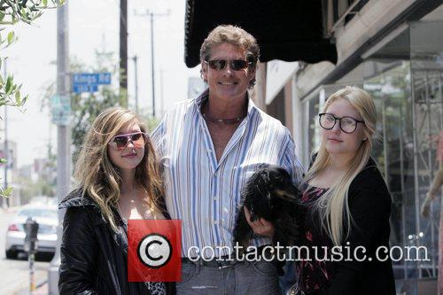 David Hasselhoff and his daughters Taylor-Ann Hasselhoff and...