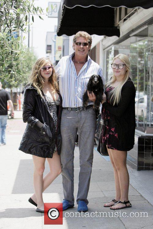 David Hasselhoff, His Daughters Taylor-ann Hasselhoff and Hayley Hasselhoff 3