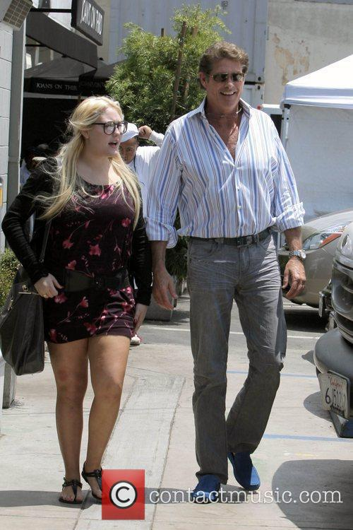 David Hasselhoff, His Daughters Hayley Hasselhoff and Taylor-ann Hasselhoff 11