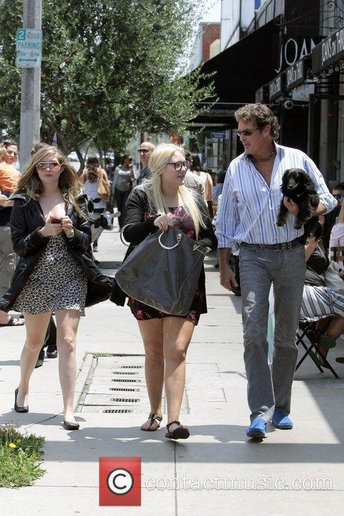 David Hasselhoff, His Daughters Hayley Hasselhoff and Taylor-ann Hasselhoff 7