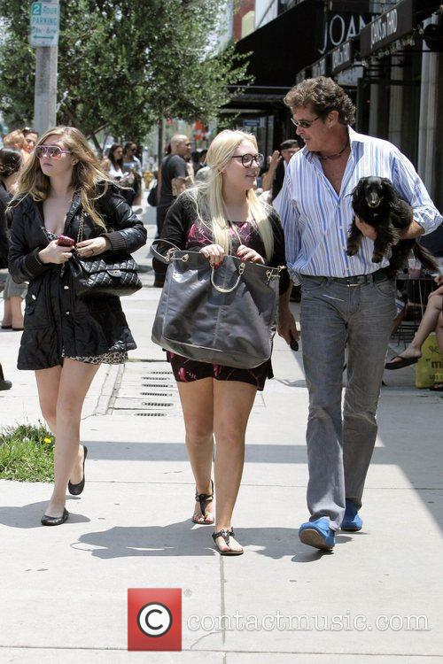 David Hasselhoff, His Daughters Hayley Hasselhoff and Taylor-ann Hasselhoff 6