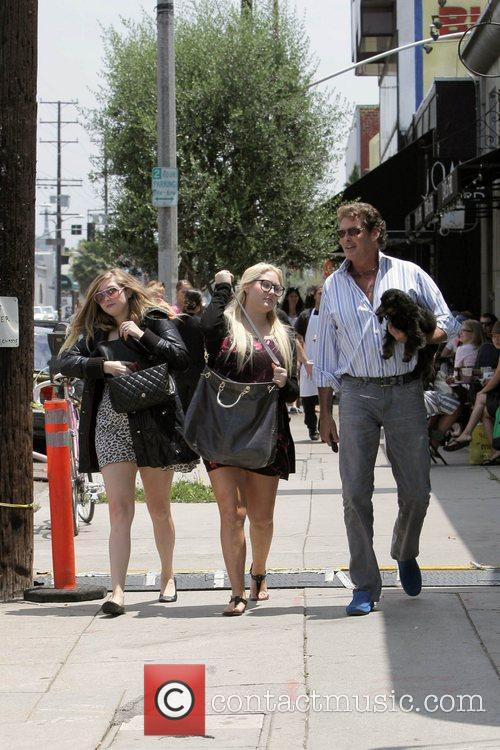 David Hasselhoff and his daughters Hayley Hasselhoff and...