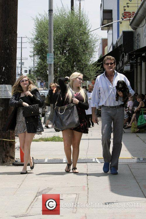 David Hasselhoff, His Daughters Hayley Hasselhoff and Taylor-ann Hasselhoff 3