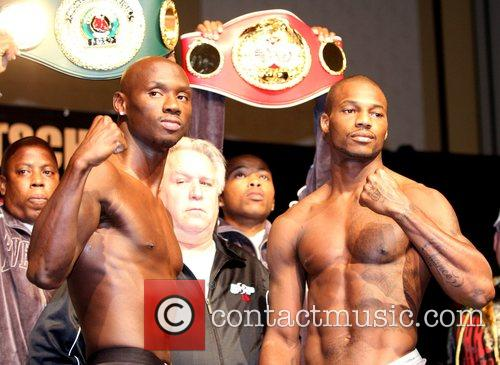 Antonio Tarver and Chad Dawson during a weigh...