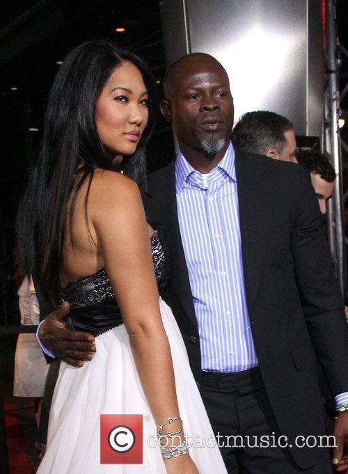 Kimora Lee Simmons and Djimon Hounsou AFI Film...