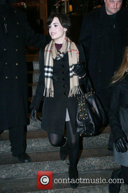 'Camp Rock' star Demi Lovato outside her Manhattan...