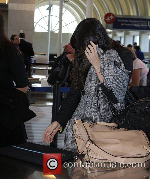 Demi Moore arrives at LAX airport to catch...