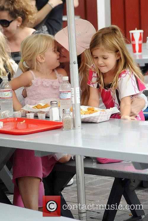 Denise Richards has lunch with her daughters in...