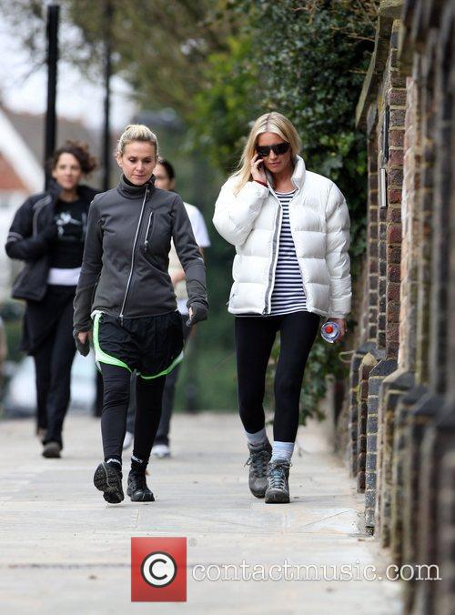 Denise Van Outen goes for a power walk...