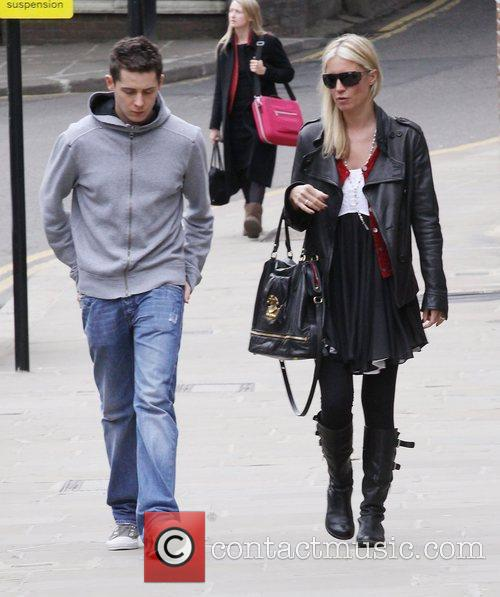 Denise Van Outen goes for lunch with former...