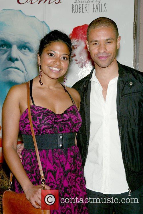 Rebecca Naomi Jones and Chad Goodridge at the...