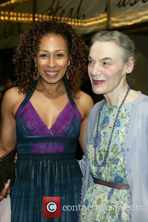 Tamara Tunie and Marian Seldes at the opening...