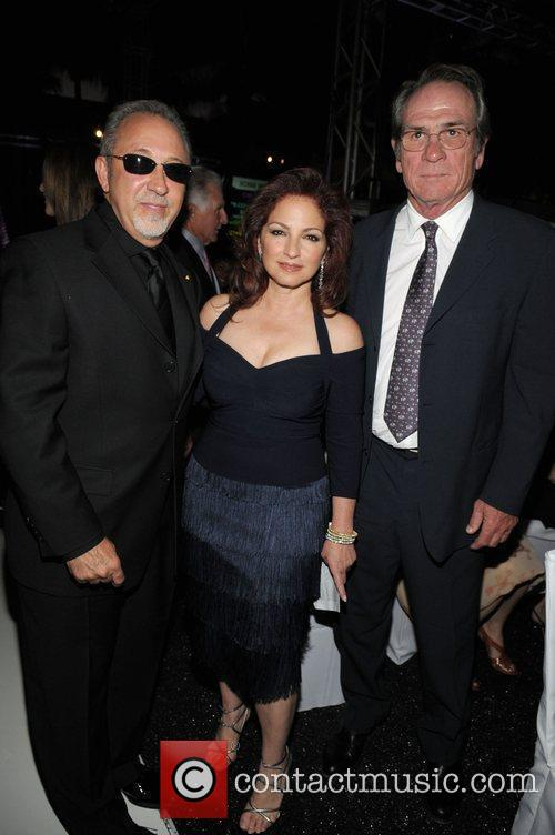 Emilio Estefan, Gloria Estefan and Tommy Lee Jones...