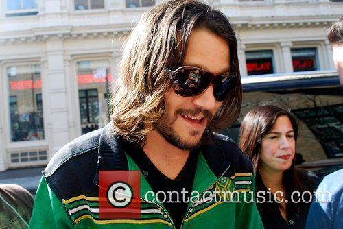 Diego Luna arrives at the Apple store in...