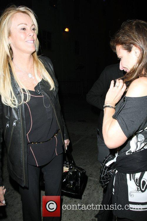 Dina Lohan outside Wiltern theatre where Lily Allen...