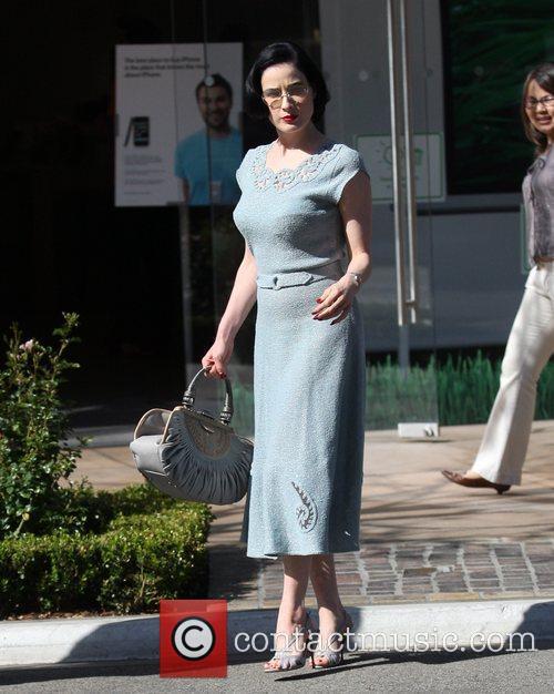 Dita Von Teese looking glamorous while out shopping...
