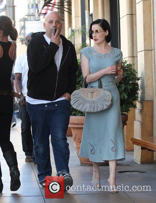 Dita Von Teese looking glamorous while out shopping...