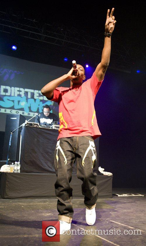 Performing live at the Forum.