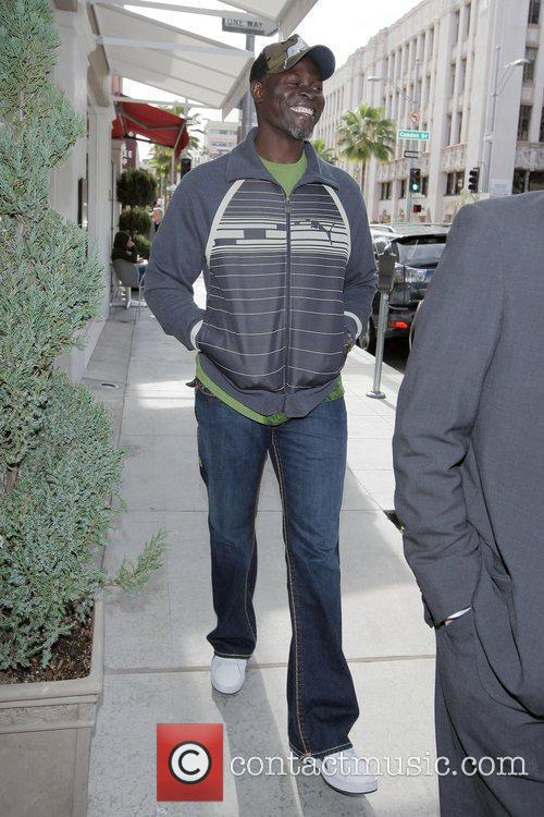 Djimon Hounsou is in high spirits walking to...