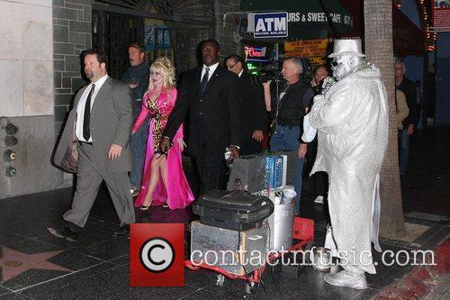 Dolly Parton  seen filming a music video...