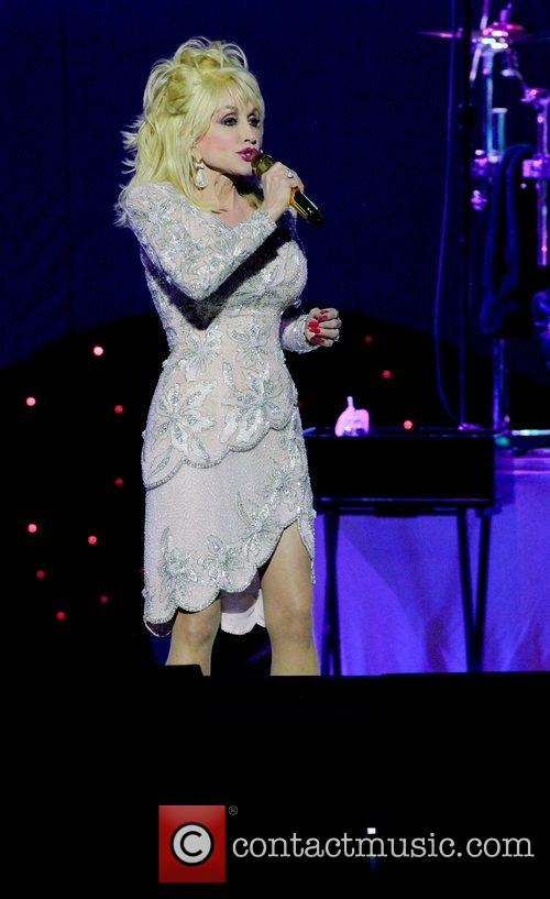 Dolly Parton performs on tour at the Mizner...