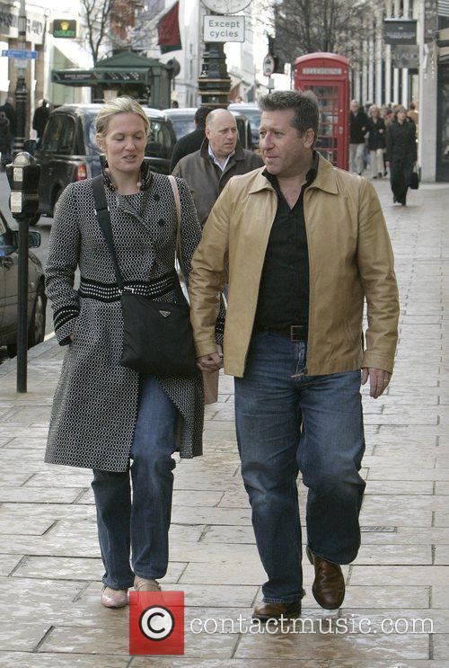 Radio DJ Neil Fox and his wife shopping...