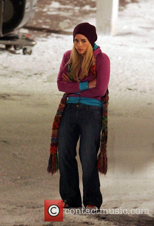 Billie Piper who plays Rose Tyler filming a...