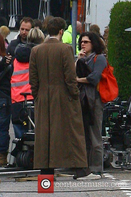 Filming on the set of the BBC's 'Doctor...