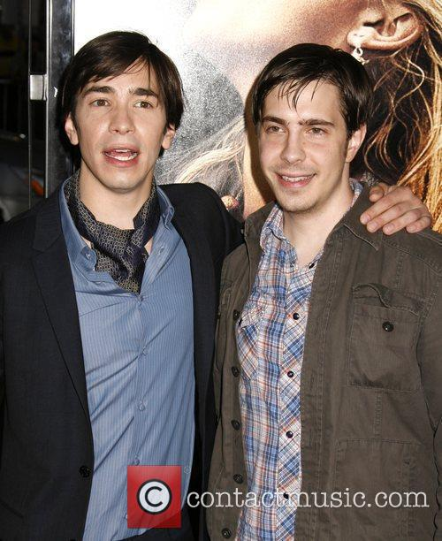 Justin Long and Christian Long Los Angeles premiere...