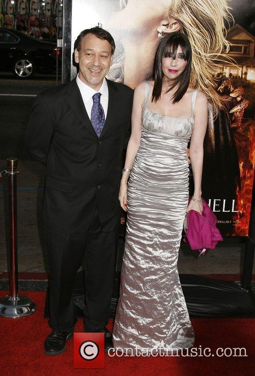 Sam Raimi and Guest Los Angeles premiere of...