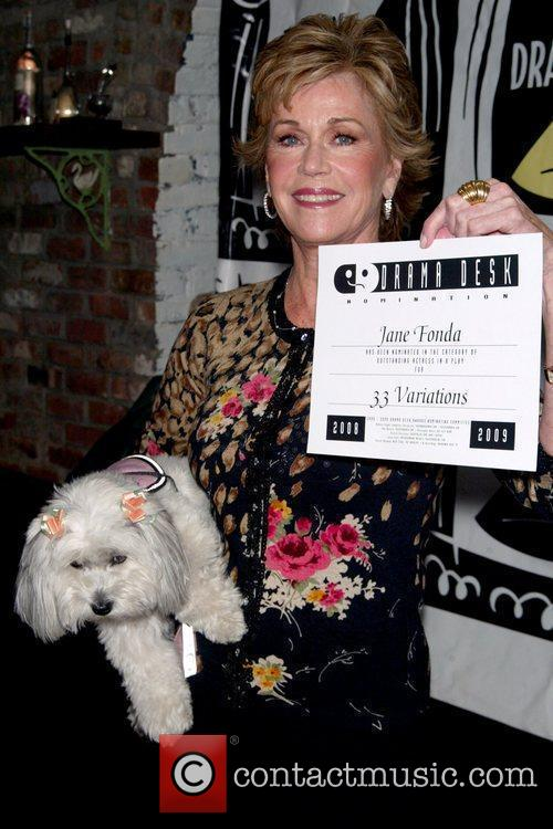 Jane Fonda and Her Dog Tulea Fonda 2