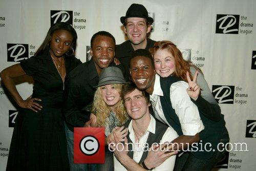 Gavin Creel and the cast of Hair at...