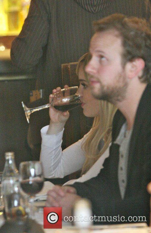 Singer Aimee Ann Duffy aka Duffy takes lunch...