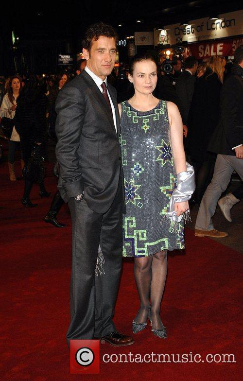 Clive Owen and wife Sarah Jane UK premiere...