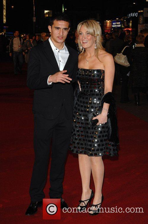 Tim Cahill and guest UK premiere of 'Duplicity'...
