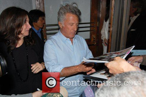 Dustin Hoffman signs autographs at Madeo Restaurant with...