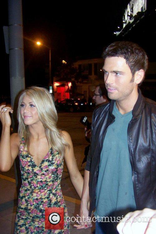 Julianne Hough and boyfriend Chuck Wicks out partying...