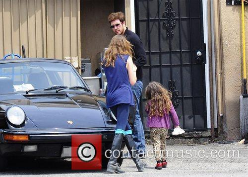Dylan Mcdermott Leaving A Restaurant After Having Lunch With His Daughters Colette 2