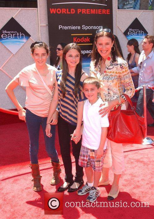 Mimi Rogers and family World Premiere of 'Disneynature:...