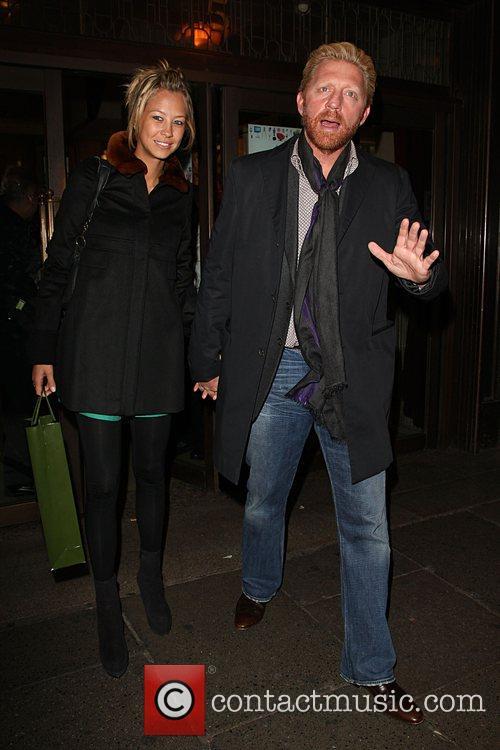 Boris Becker with his girlfriend Petra Ecclestone launches...