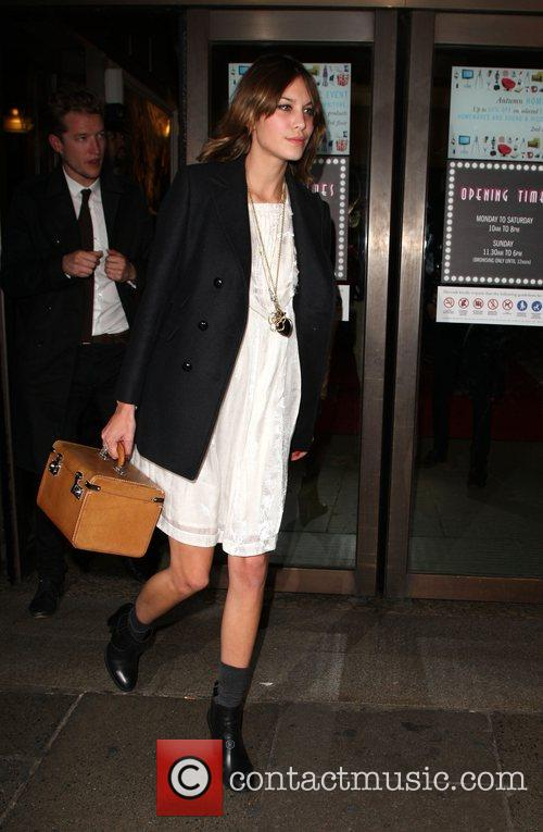 Alexa Chung  departing the launch party for...