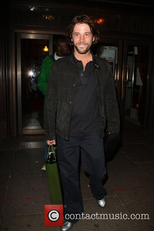 Jay Kay  departing the launch party for...